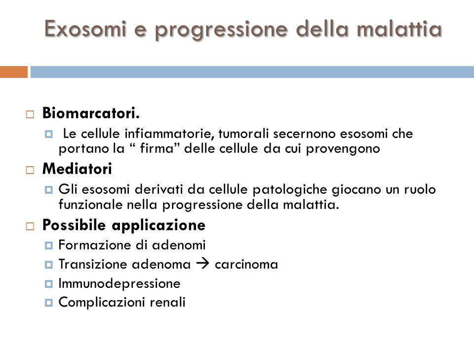 Exosomi e progressione della malattia