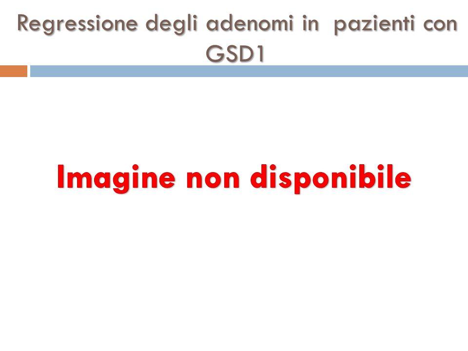 Regressione degli adenomi in pazienti con GSD1