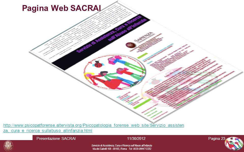 Pagina Web SACRAI