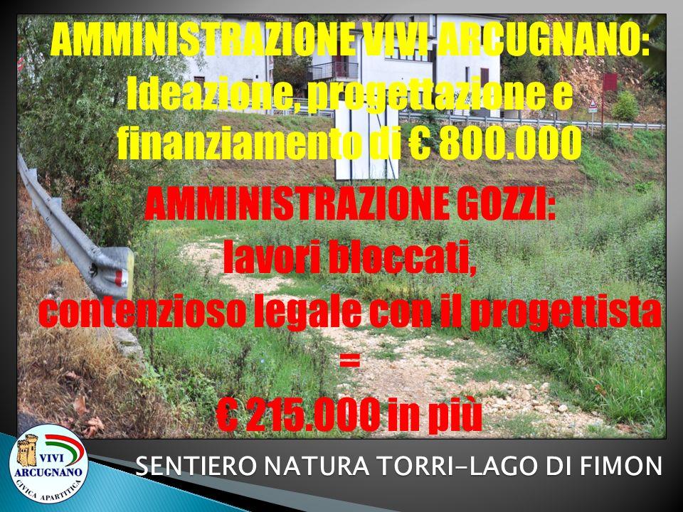SENTIERO NATURA TORRI-LAGO DI FIMON