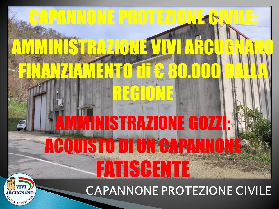 CAPANNONE PROTEZIONE CIVILE