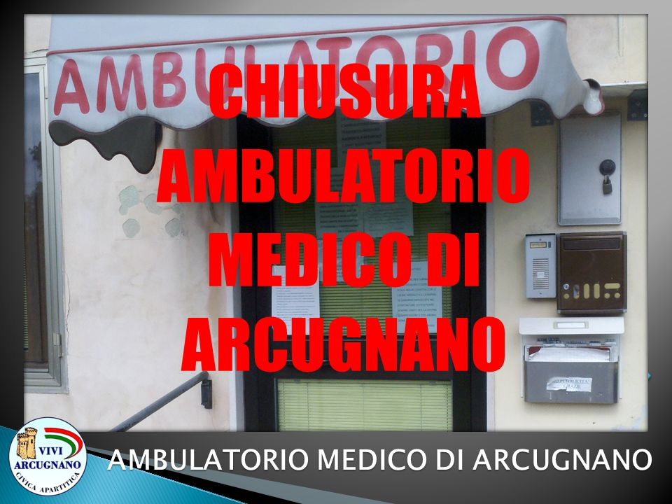 AMBULATORIO MEDICO DI ARCUGNANO