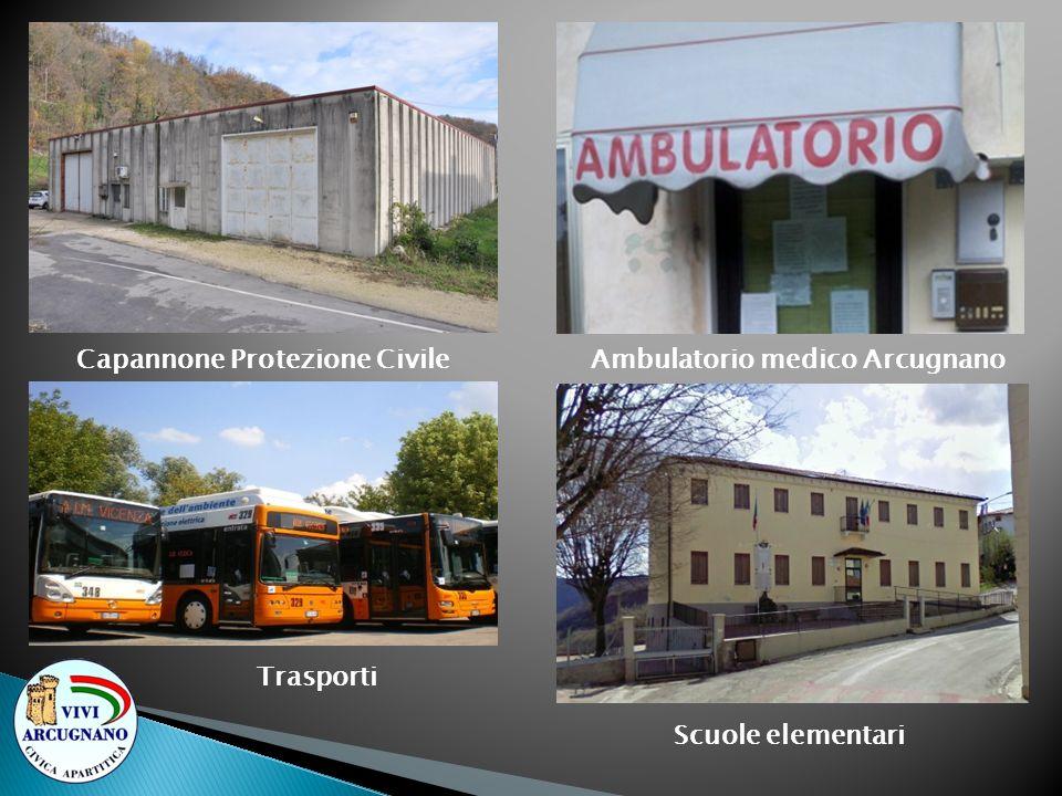 Capannone Protezione Civile Ambulatorio medico Arcugnano