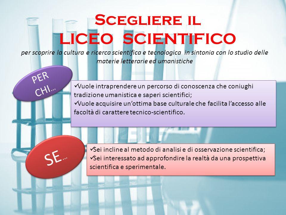 Scegliere il LICEO Scientifico