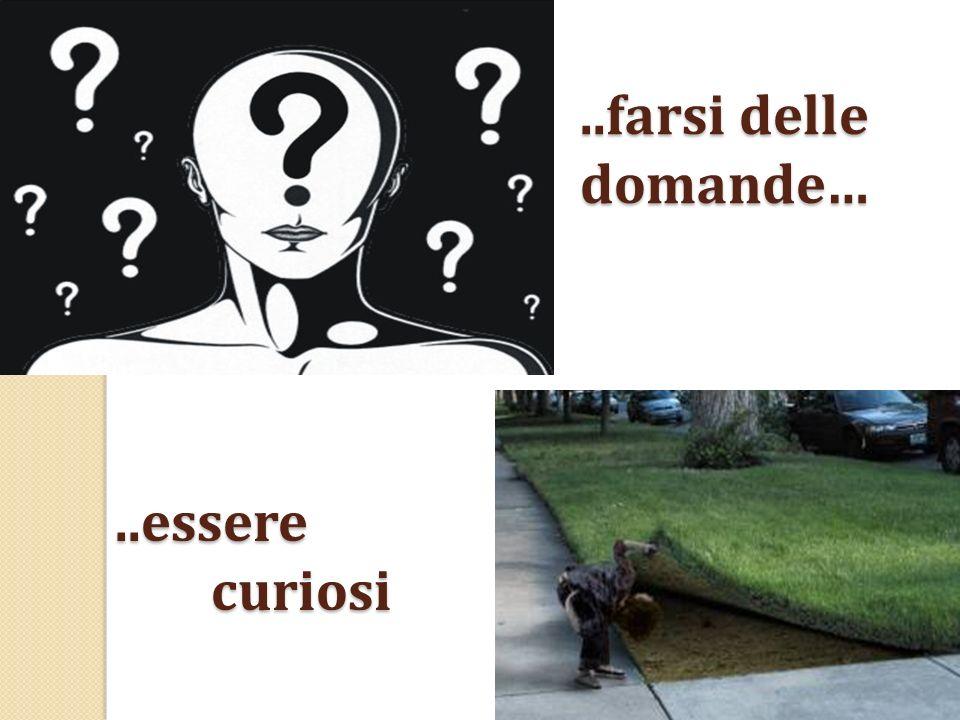 ..farsi delle domande… ..essere curiosi