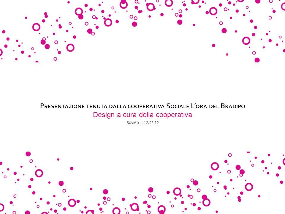 Presentazione tenuta dalla cooperativa Sociale L'ora del Bradipo