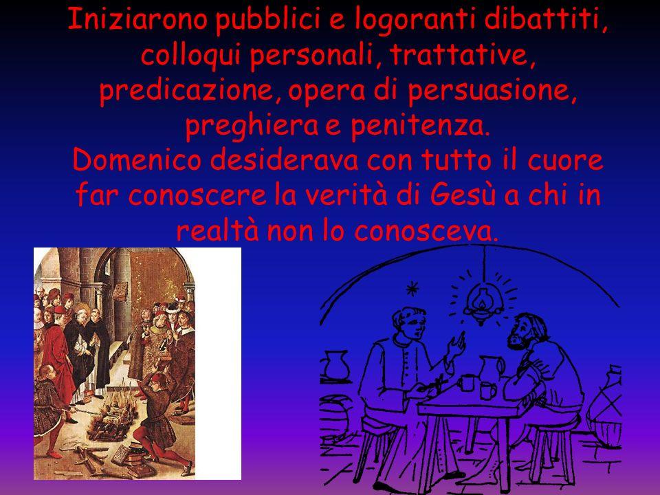 Iniziarono pubblici e logoranti dibattiti, colloqui personali, trattative, predicazione, opera di persuasione, preghiera e penitenza.