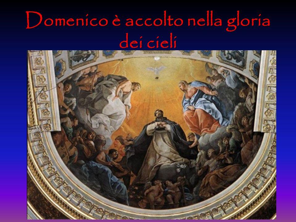 Domenico è accolto nella gloria dei cieli