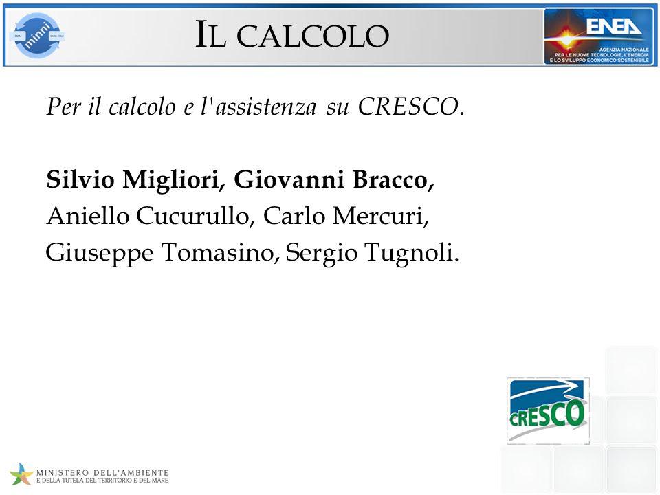 Il calcolo Per il calcolo e l assistenza su CRESCO.