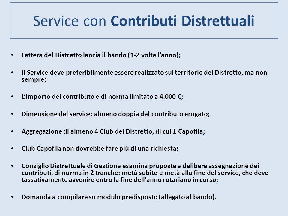 Service con Contributi Distrettuali