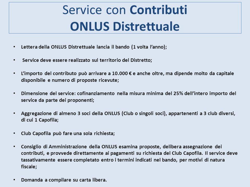 Service con Contributi ONLUS Distrettuale