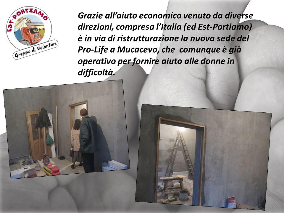Grazie all'aiuto economico venuto da diverse direzioni, compresa l'Italia (ed Est-Portiamo)