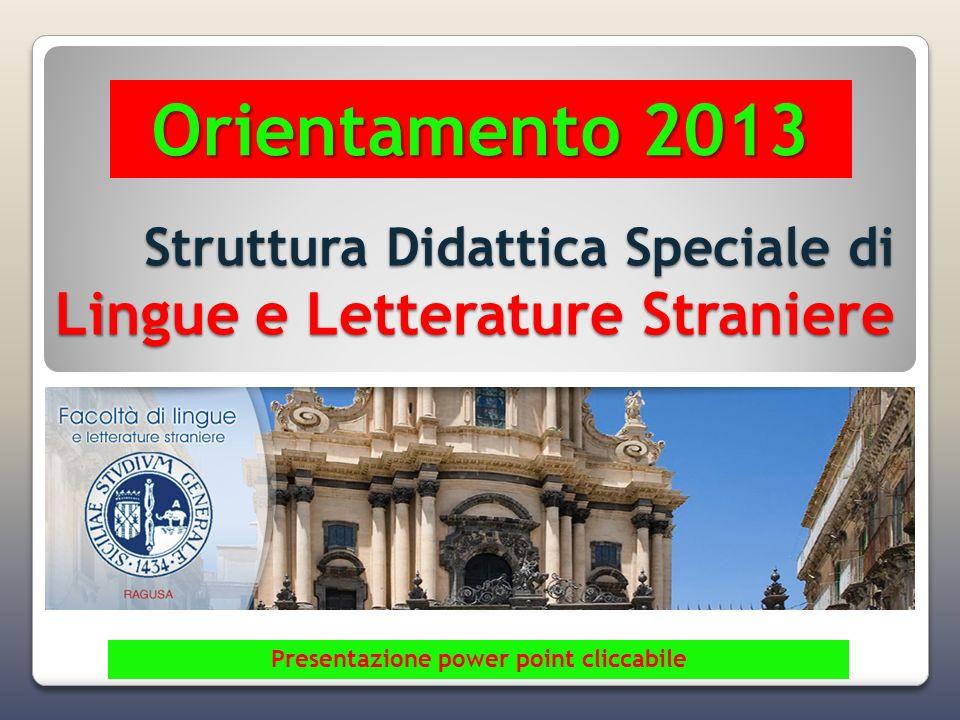 Struttura Didattica Speciale di Lingue e Letterature Straniere