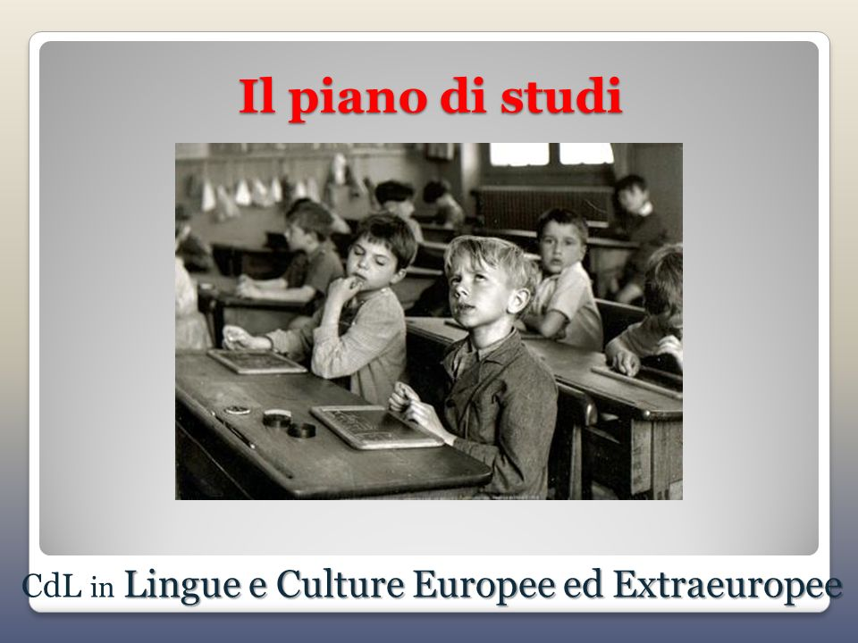 CdL in Lingue e Culture Europee ed Extraeuropee