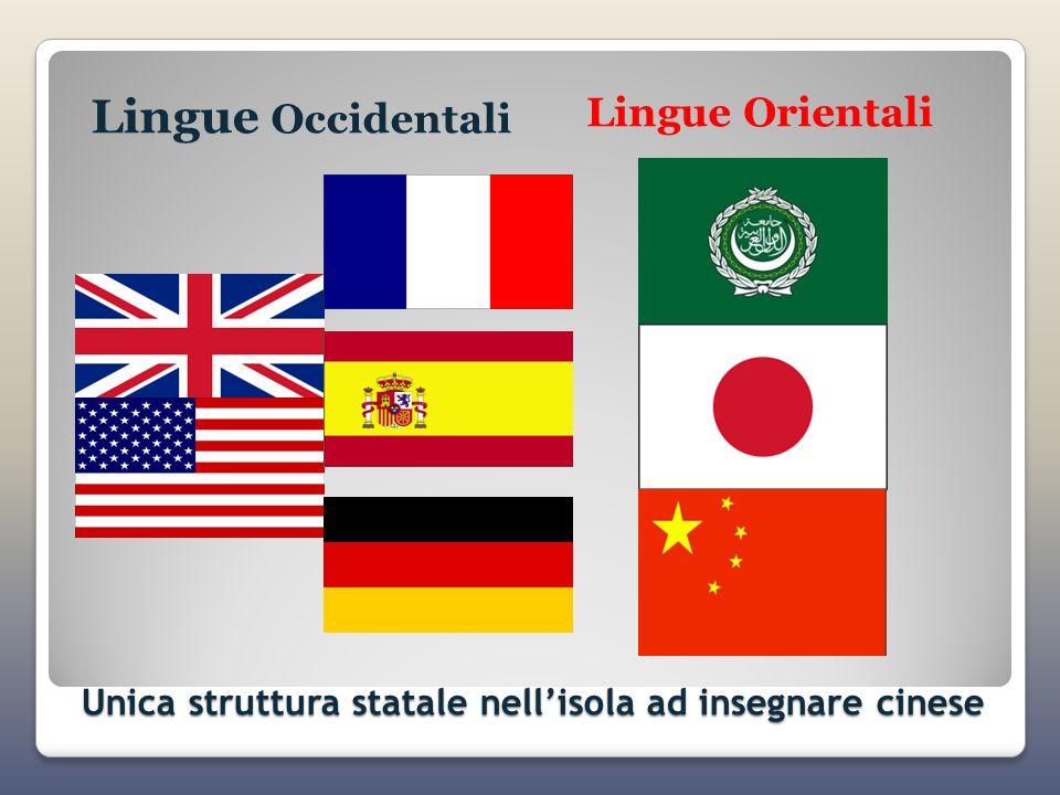 Unica struttura statale nell'isola ad insegnare cinese