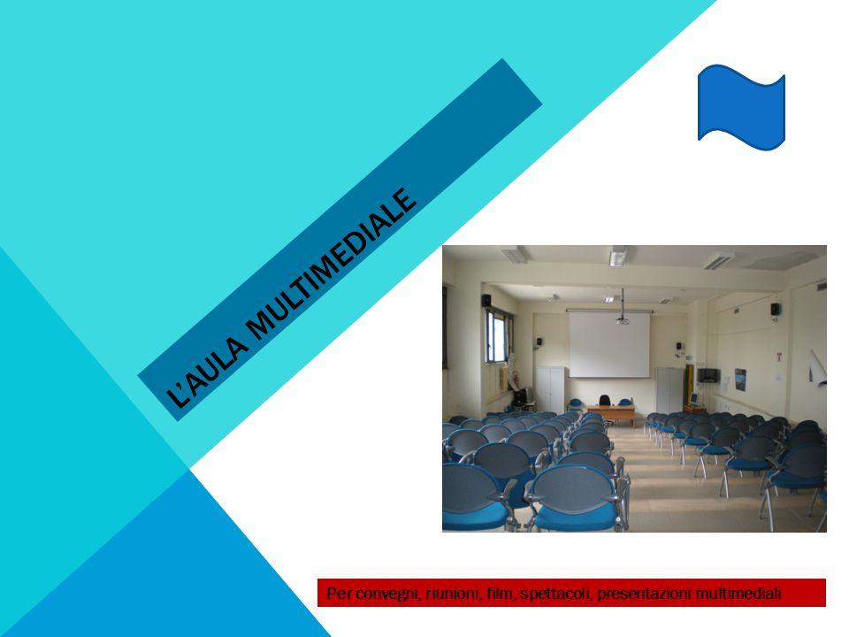 L'aula multimediale Per convegni, riunioni, film, spettacoli, presentazioni multimediali