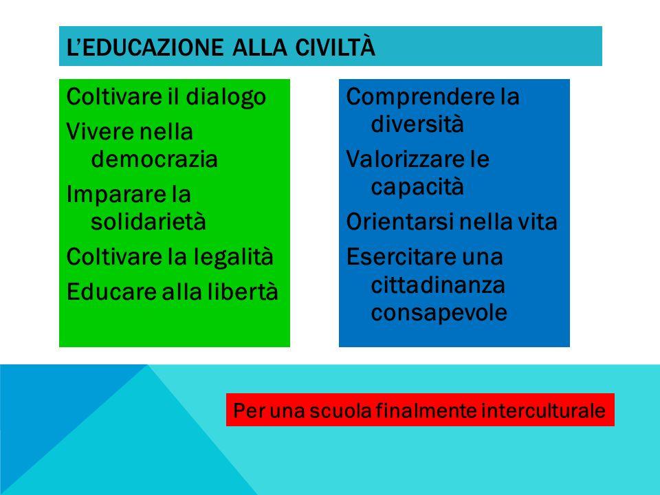 L'educazione alla civiltà