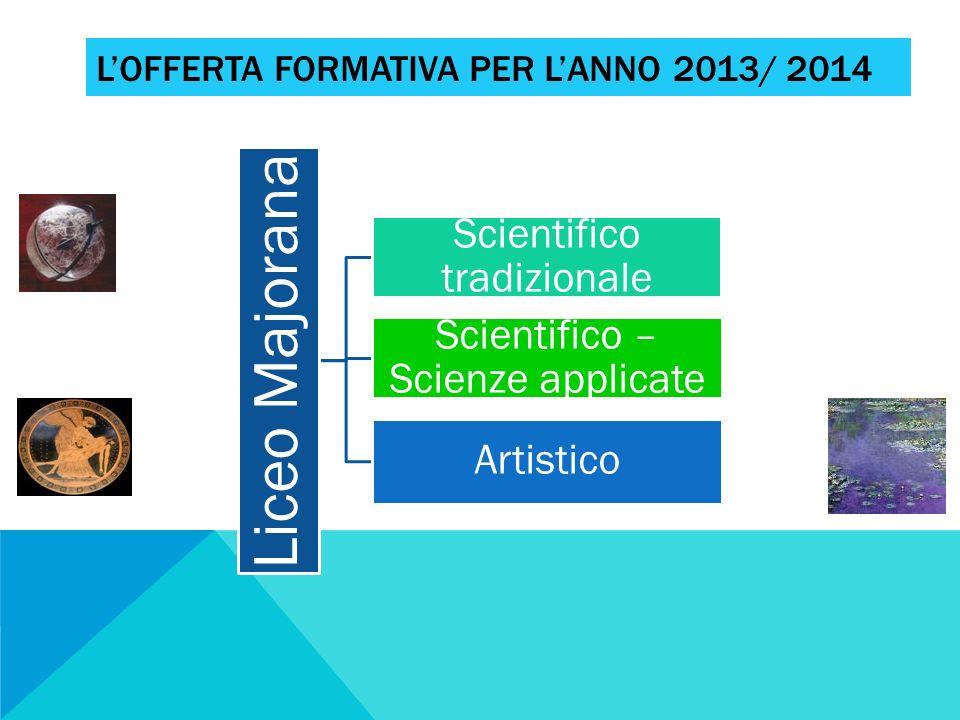 L'offerta formativa per l'anno 2013/ 2014