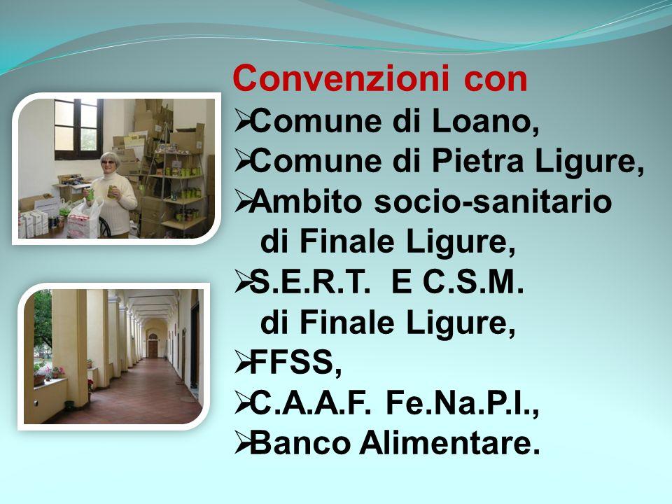 Convenzioni con Comune di Loano, Comune di Pietra Ligure,