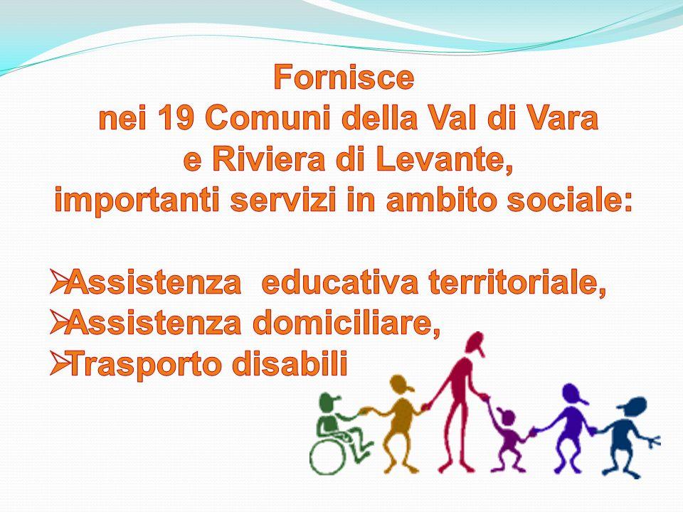 nei 19 Comuni della Val di Vara importanti servizi in ambito sociale: