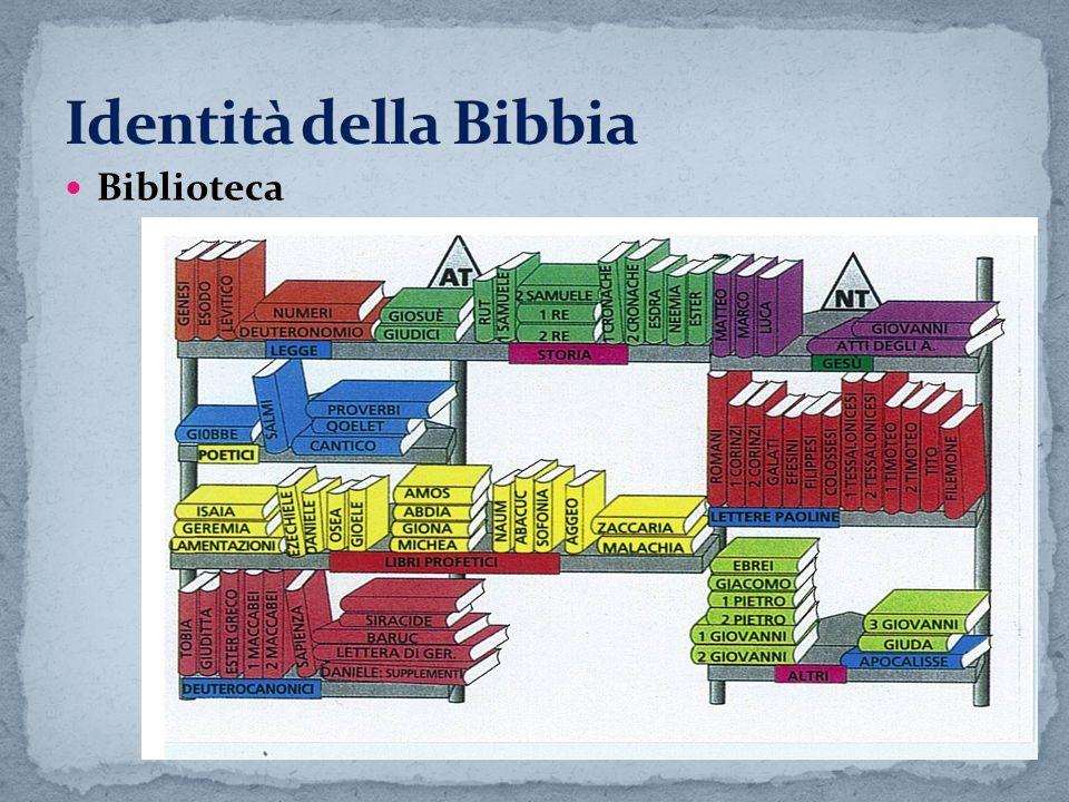 Identità della Bibbia Biblioteca
