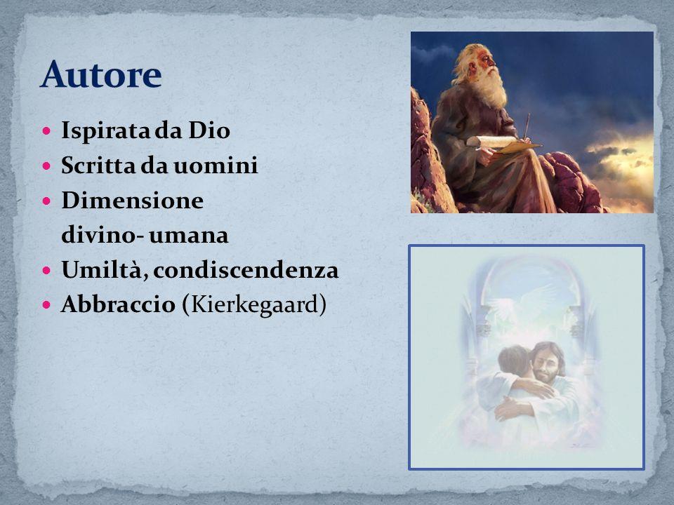 Autore Ispirata da Dio Scritta da uomini Dimensione divino- umana