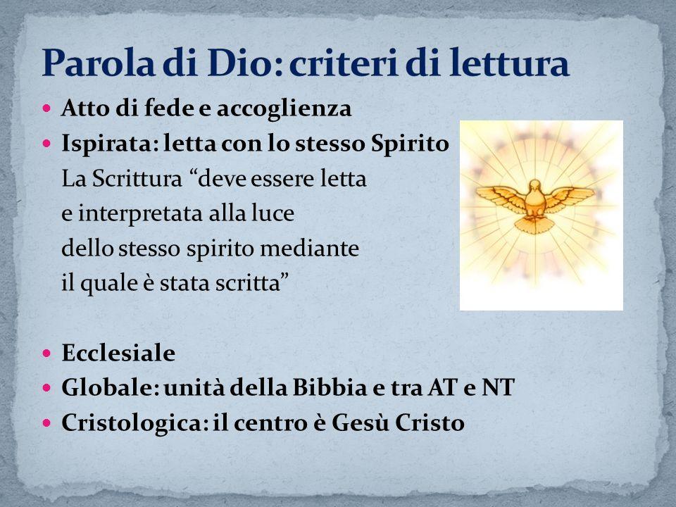 Parola di Dio: criteri di lettura