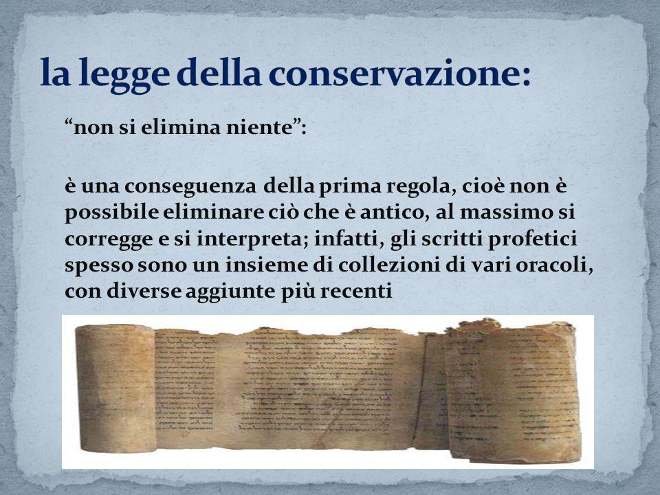 la legge della conservazione: