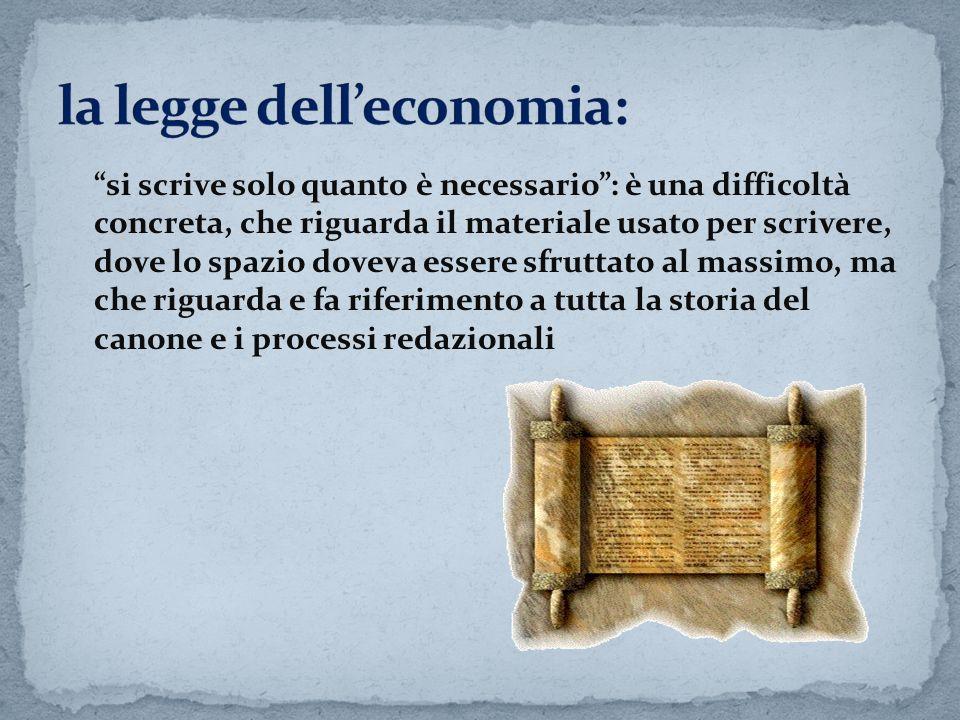 la legge dell'economia: