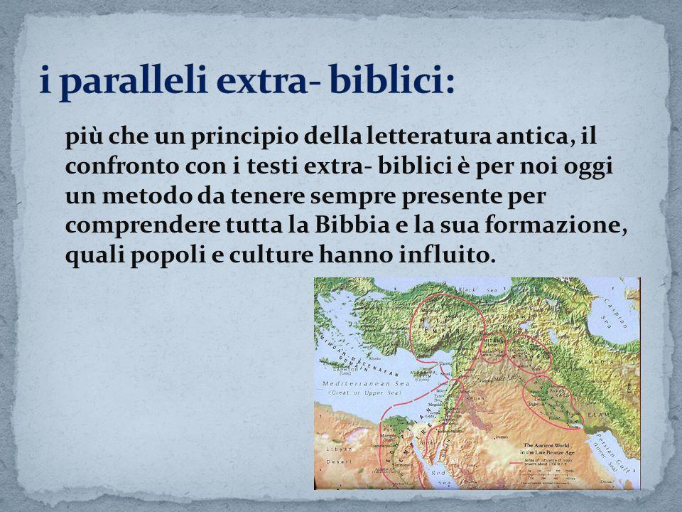 i paralleli extra- biblici: