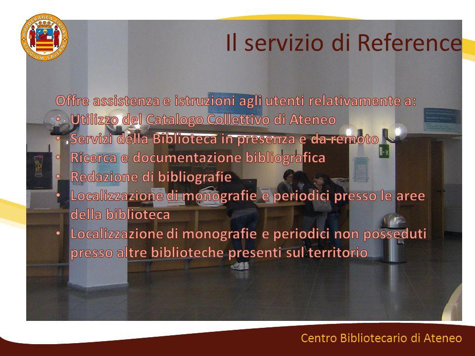Il servizio di Reference