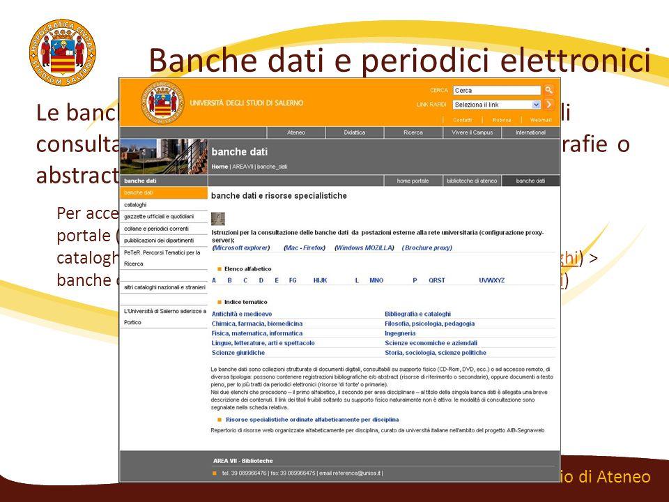 Banche dati e periodici elettronici
