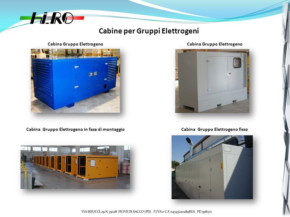 Cabine per Gruppi Elettrogeni