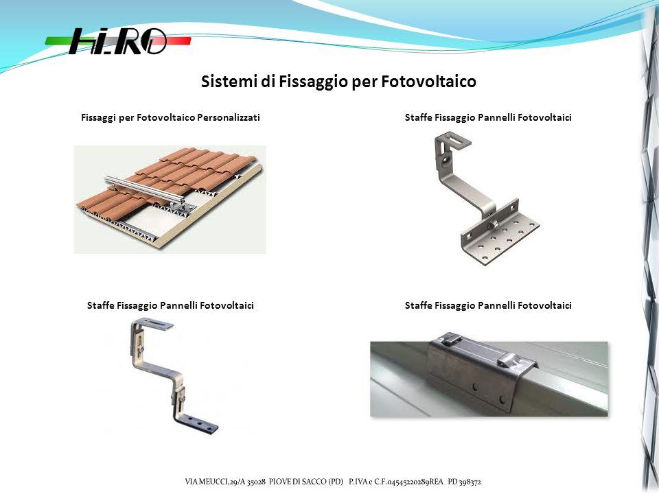 Sistemi di Fissaggio per Fotovoltaico