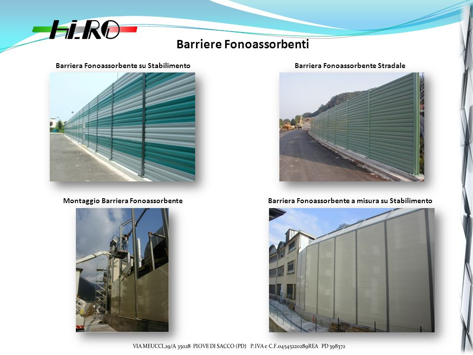 Barriere Fonoassorbenti