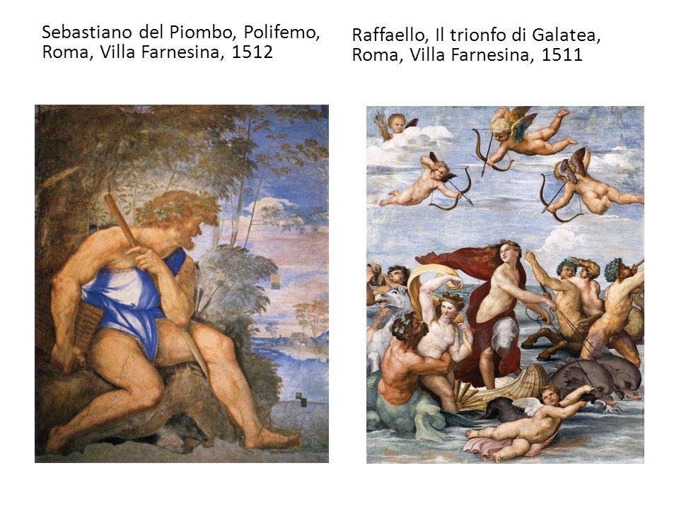 Sebastiano del Piombo, Polifemo, Roma, Villa Farnesina, 1512