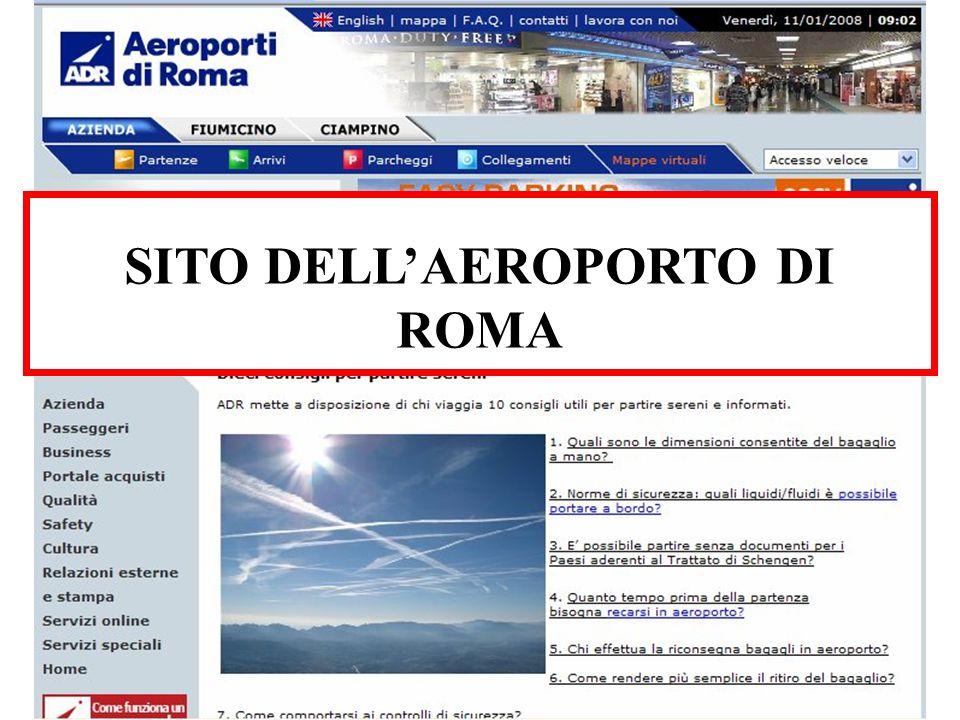 SITO DELL'AEROPORTO DI ROMA
