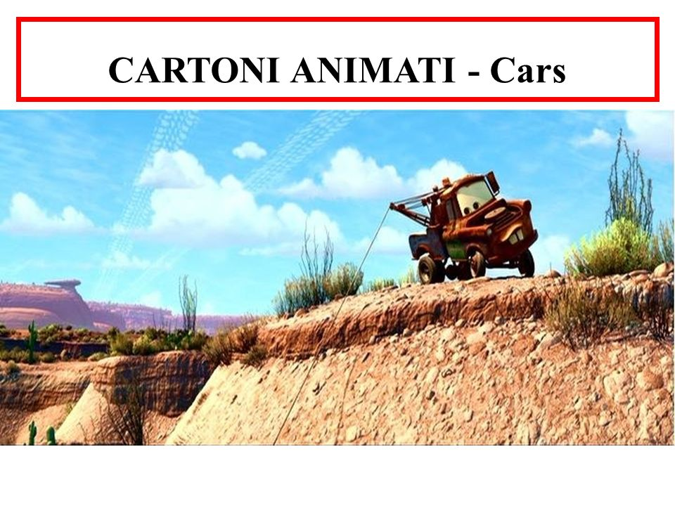 CARTONI ANIMATI - Cars