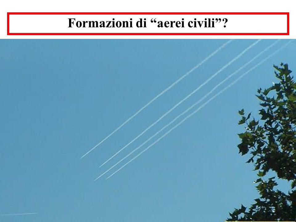 Formazioni di aerei civili