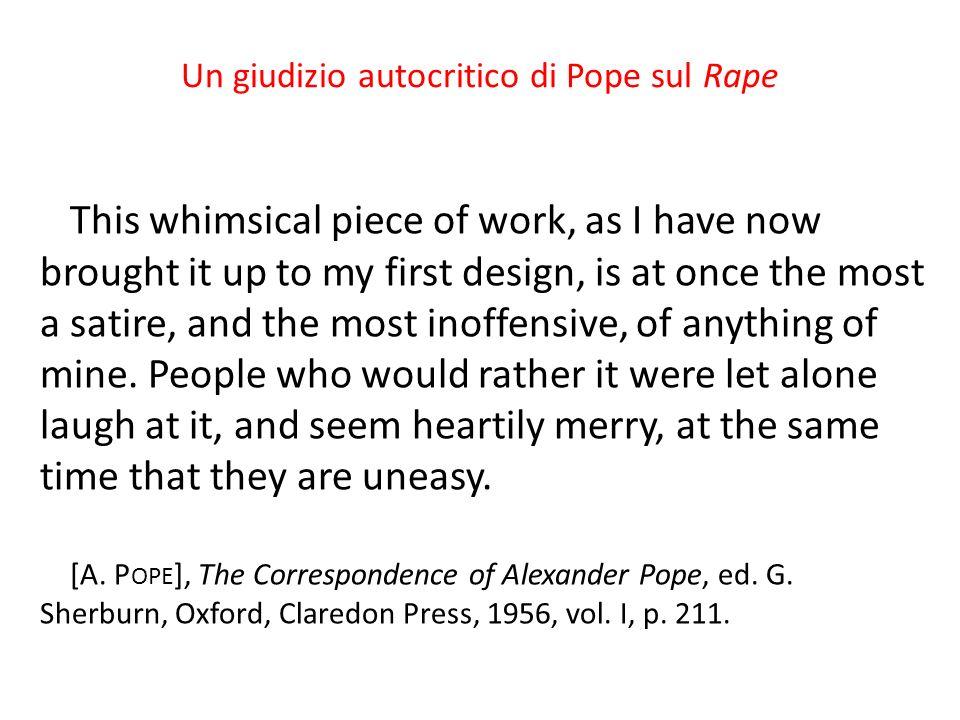Un giudizio autocritico di Pope sul Rape