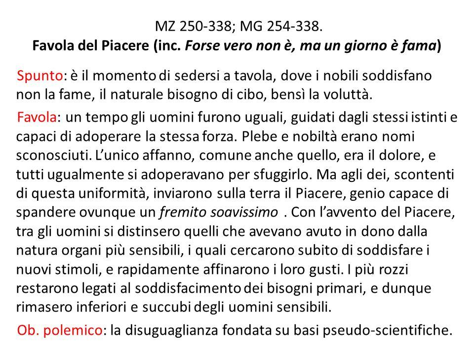 MZ 250-338; MG 254-338. Favola del Piacere (inc