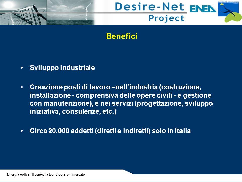 Benefici Sviluppo industriale