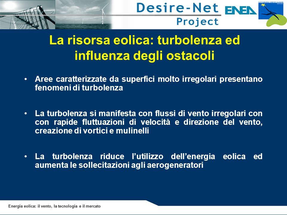 La risorsa eolica: turbolenza ed influenza degli ostacoli