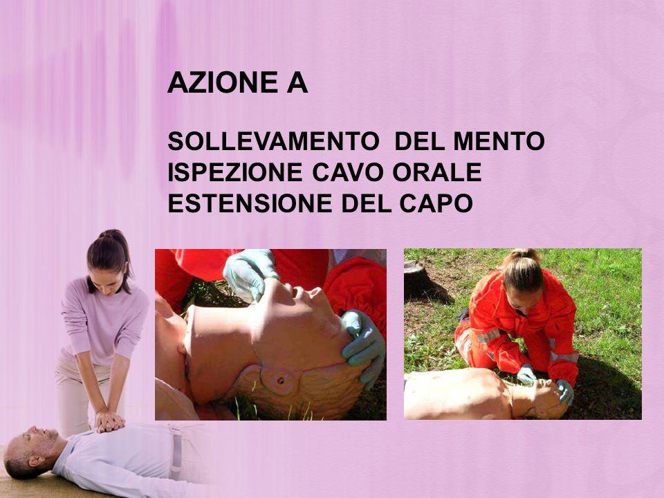AZIONE A SOLLEVAMENTO DEL MENTO ISPEZIONE CAVO ORALE