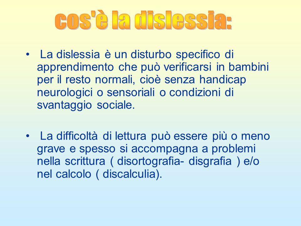 Cos'è la dislessia cos è la dislessia:
