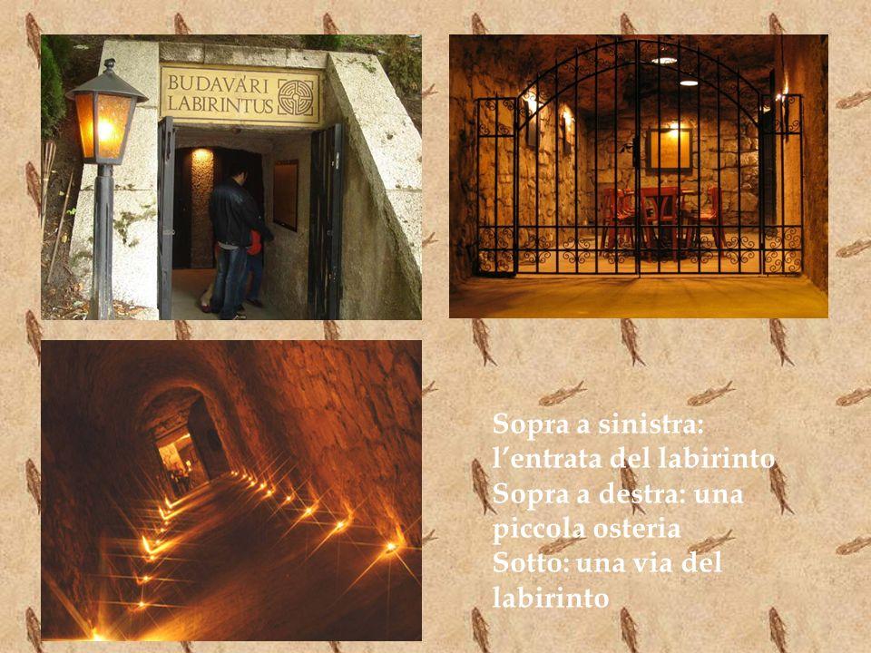 Sopra a sinistra: l'entrata del labirinto