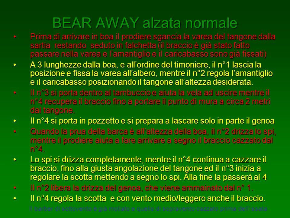 BEAR AWAY alzata normale
