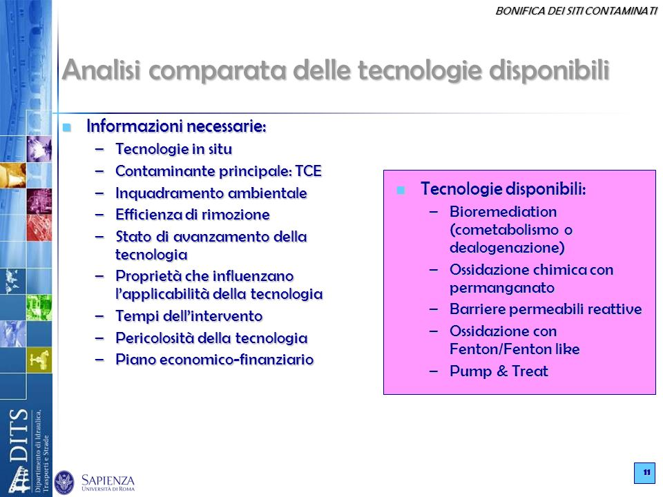 Analisi comparata delle tecnologie disponibili