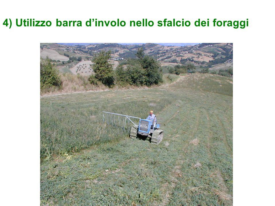 4) Utilizzo barra d'involo nello sfalcio dei foraggi