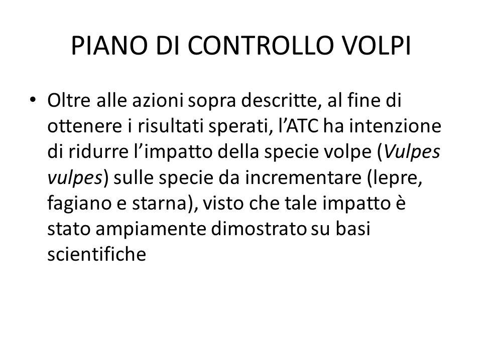PIANO DI CONTROLLO VOLPI